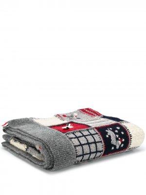 Одеяло Holiday в технике пэчворк Thom Browne. Цвет: 960 rwbwht
