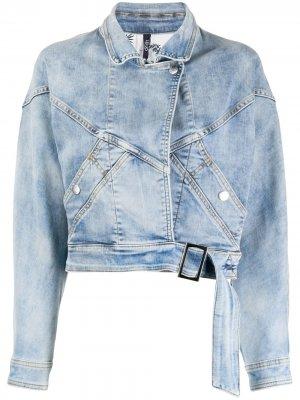 Укороченная джинсовая куртка с лацканами LIU JO. Цвет: синий