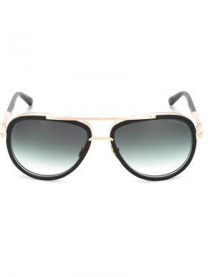 Солнцезащитные очки в круглой оправе Dita Eyewear. Цвет: чёрный