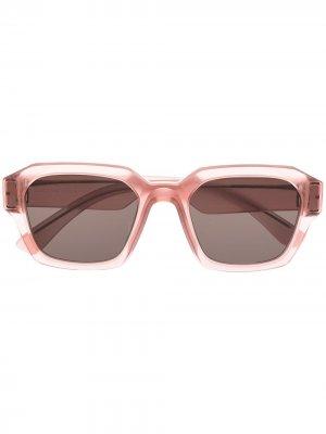 Солнцезащитные очки из коллаборации с Maison Margiela Mykita. Цвет: розовый