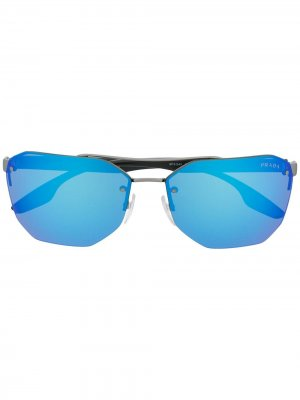 Солнцезащитные очки Prada Eyewear. Цвет: синий