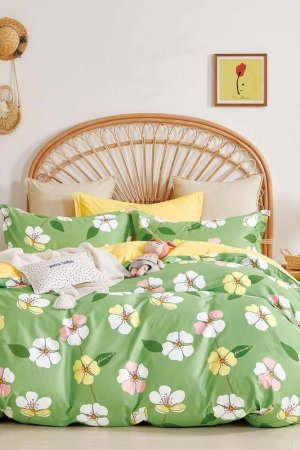 Постельное белье Дуэт 70x70 Jardin. Цвет: зеленый, желтый