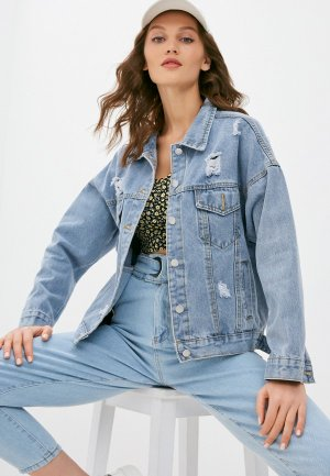 Куртка джинсовая Fadjo. Цвет: голубой