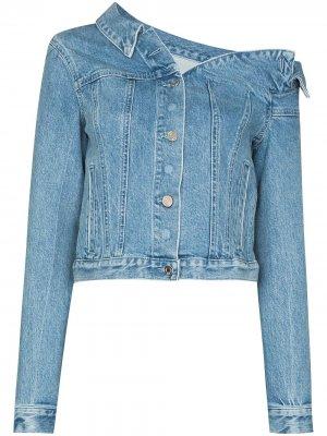 Rebecca one-shoulder denim jacket RtA. Цвет: синий