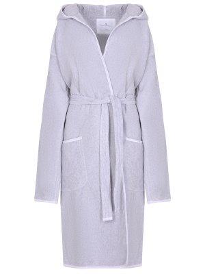 Банный халат из хлопка BRUNELLO CUCINELLI. Цвет: серый