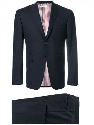 Классический однотонный костюм Thom Browne. Цвет: синий