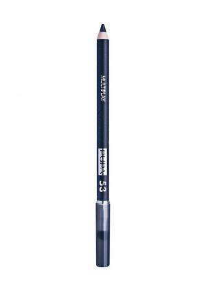 Карандаш для глаз Pupa с аппликатором Multiplay Eye Pencil, 53 Полночный синий. Цвет: синий