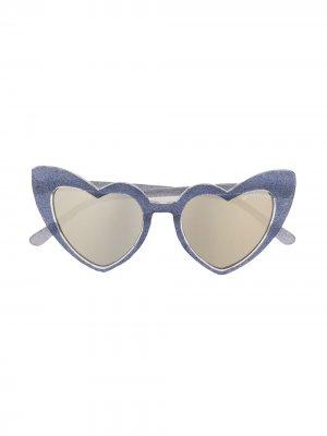 Солнцезащитные очки с блестками Monnalisa. Цвет: фиолетовый