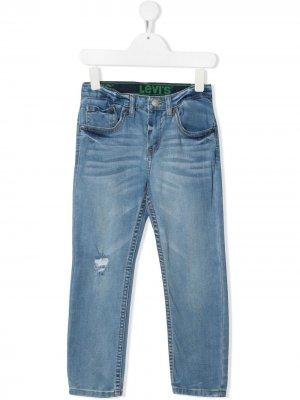 Levis Kids узкие джинсы средней посадки Levi's. Цвет: синий