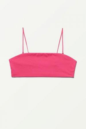 Пляжный топ Bay Weekday. Цвет: розовый