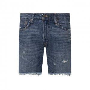 Джинсовые шорты Polo Ralph Lauren. Цвет: синий