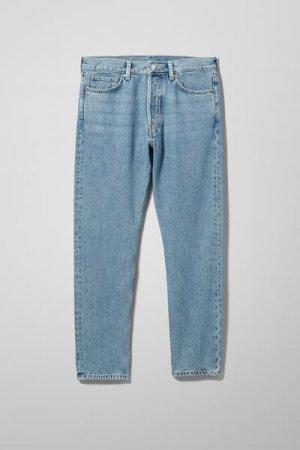 Классические зауженные джинсы Pine Weekday. Цвет: синий