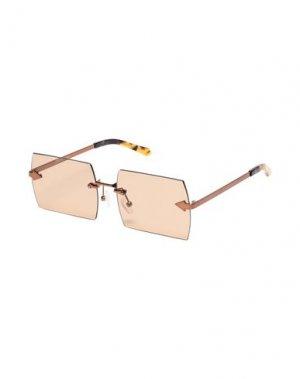 Солнечные очки KAREN WALKER. Цвет: бронзовый