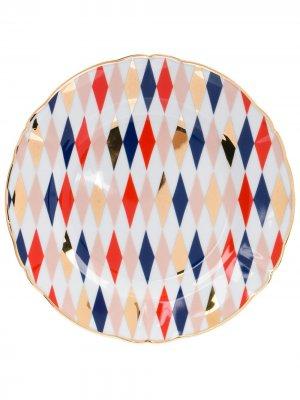 Десертная тарелка Quadri Bitossi Home. Цвет: белый