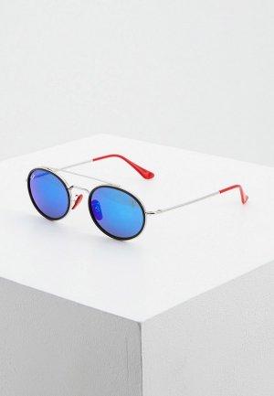 Очки солнцезащитные Ray-Ban® RB3847M F03130. Цвет: серебряный