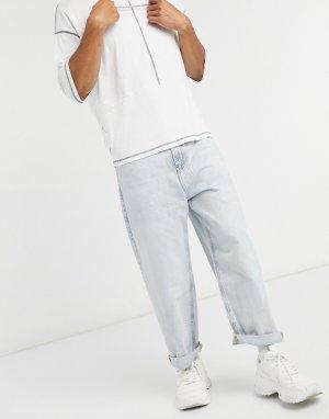 Синие широкие джинсы в стиле 90-х -Синий Bershka
