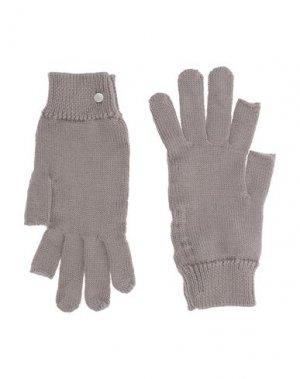 Перчатки RICK OWENS. Цвет: голубиный серый