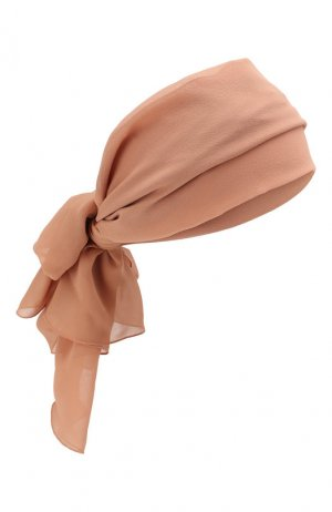 Шелковая повязка на голову Tom Ford. Цвет: бежевый