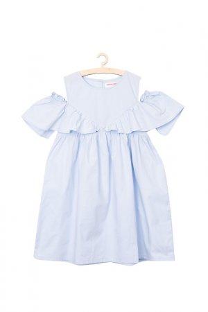 Платье для девочек 5.10.15.. Цвет: темно-синий