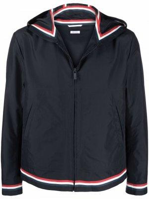 Куртка с капюшоном и полосками RWB Thom Browne. Цвет: синий
