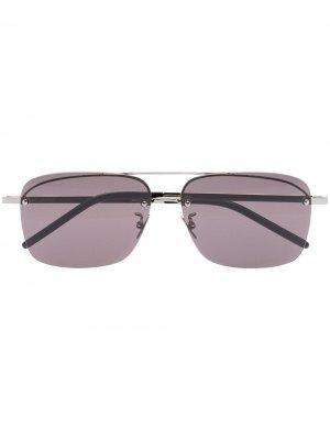 Солнцезащитные очки-авиаторы SL417 Saint Laurent Eyewear. Цвет: черный