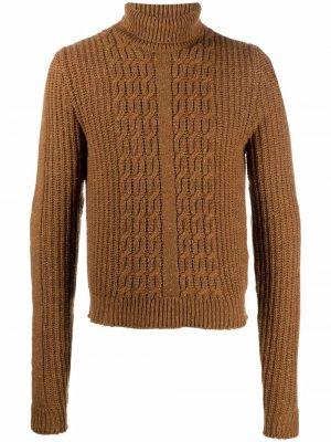 Cable-knit wool jumper ETRO. Цвет: коричневый