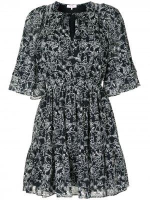 Платье с цветочным узором Parker. Цвет: черный