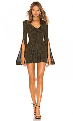 Мини платье moseley Michael Costello. Цвет: черный