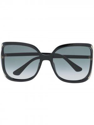 Солнцезащитные очки Tilda в массивной оправе Jimmy Choo Eyewear. Цвет: черный