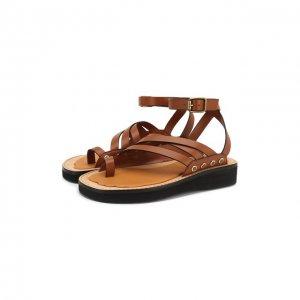 Кожаные сандалии Chunky x Paulas Ibiza Loewe. Цвет: коричневый