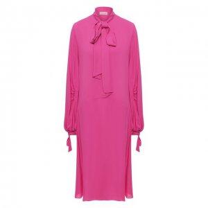 Платье из вискозы By Malene Birger. Цвет: розовый