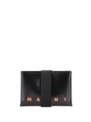 Картхолдер с логотипом Marni. Цвет: черный