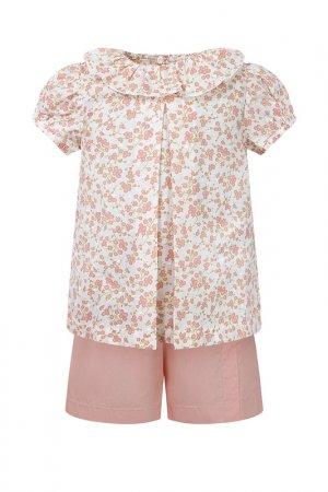 Комплект: футболка, шорты Aletta. Цвет: розовый