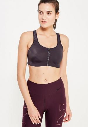 Топ спортивный Nike WOMENS SHAPE ZIP SPORTS BRA. Цвет: черный