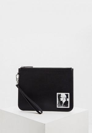Клатч Karl Lagerfeld LEGEND. Цвет: черный