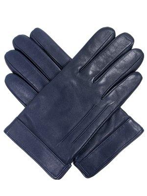 Кожаные перчатки ELEGANZZA. Цвет: синий