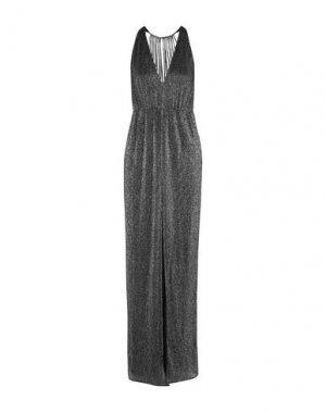 Длинное платье HALSTON. Цвет: свинцово-серый