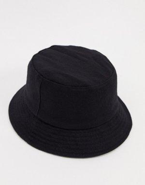 Черная шляпа с добавлением шерсти -Черный French Connection