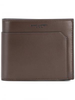 Fragments billfold wallet Saint Laurent. Цвет: коричневый