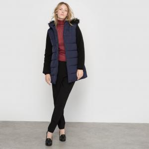 Куртка-трапеция LA REDOUTE COLLECTIONS. Цвет: темно-синий/черный