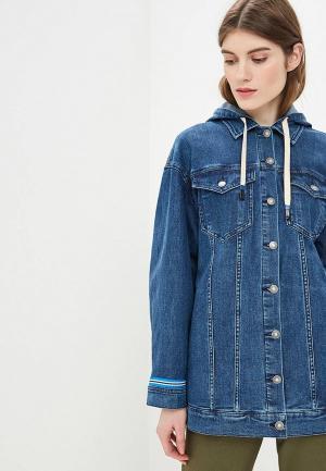 Куртка джинсовая United Colors of Benetton. Цвет: синий