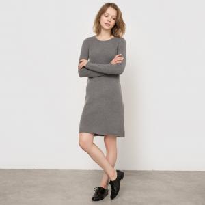Платье-пуловер R essentiel. Цвет: серый,синий морской