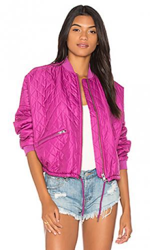 Стеганая куртка-бомбер easy Free People. Цвет: розовый
