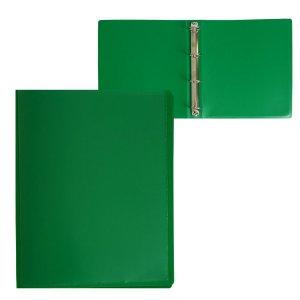 Папка на 4 кольцах а4 пласт 40мм 700мкм calligrata, панорама, лицевой карман, зеленая Calligrata
