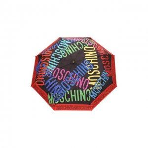 Складной зонт Moschino. Цвет: разноцветный