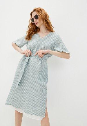 Платье Cappellini. Цвет: зеленый
