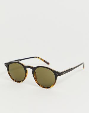 Круглые черепаховые солнцезащитные очки eco friendly-Коричневый Selected Homme