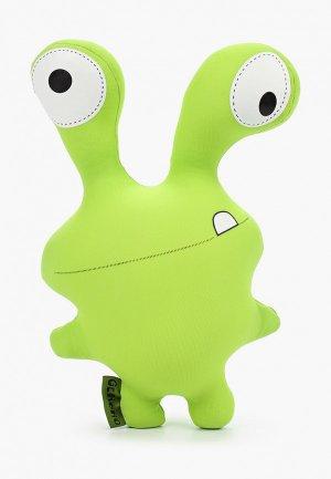 Подушка декоративная Gekoko Монстрик. Цвет: зеленый