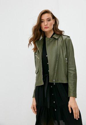 Куртка кожаная Whistles. Цвет: хаки