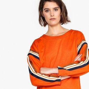 Платье-свитшот La Redoute. Цвет: оранжевый